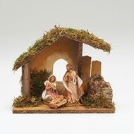 "FONTANINI NATIVITY 3.5"" SCALE 3 FIGURE NATIVITY W/ITALIAN STABLE"