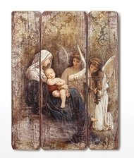 """26""""H SONG OF THE ANGELS DECORATIVE PANEL"""