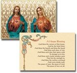 """Sacred & Immac Heart Home Blessing 6x9"""" Mosaic Plaque"""