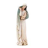 "12"" Mary w/Child Statue Blue/white"