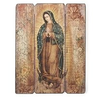 """17"""" Our Lady of Guadalupe Wood Panel"""