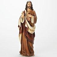 "18""H SACRED HEART OF JESUS FIGURE; RENAISSANCE COLLECTION"