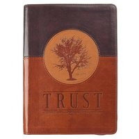Journal Trust Jeremiah 17:7-8 Journal Lux-Leather Brown with Zipper: Blessed Is the Man Who Trusts in the Lord