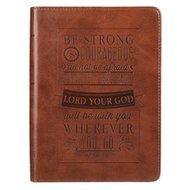 Be Strong & Courageous Brown Flexcover Journal - Joshua 1: 9