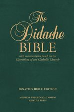 B-Didache Bible GR w/Commentaries based on Catechism Leather