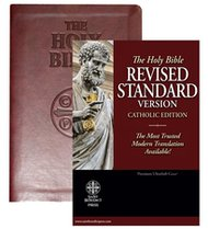 The Holy Bible RSV Catholic Red Letter Edition - Burgundy Imitation Leather
