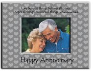 Anniversary silver 6X8 frame