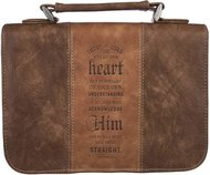 BC-Classic Bible Cover Medium Luxleather Trust in the Lord - Prov 3:5-6