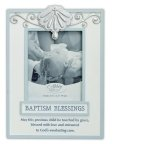 BLUE BAPTISM BLESSINGS FRAME BOXED