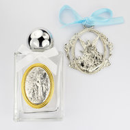 Baptism BOY'S HOLY WATER CRIB MEDAL
