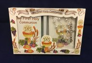 Communion Set Pearl Rosary w/Sm Book boxed