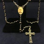 Communion Rosary Boys Hematite Gift Boxed