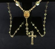 Communion Rosary Girls Crystal Gift Boxed