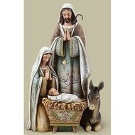 "10.5"" Holy Family with Donkey"