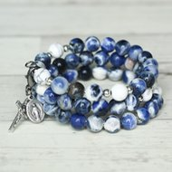 Rosary Bracelet Immaculate Conception Memory Wire