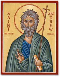 Icon St Andrew the First-called 3x4