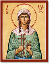 Icon St Barbara 3x4