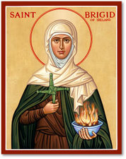 Icon St Brigid 3x4