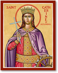 Icon St Catherine of Alexandra