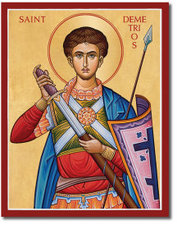 Icon St Demetrios 3x4