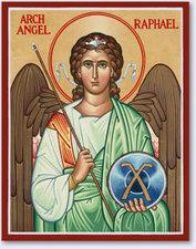 Icon Archangel Raphael 3x4