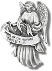 Visor Clip Angel of the Highway Protect Us