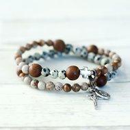Chews Life Bracelet -Rosary Bracelet Stretch and Wrap Kolbe medium